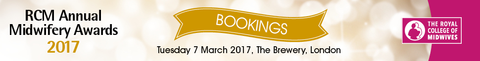 RCM Annual Midwifery Awards 2017 - Table Bookings