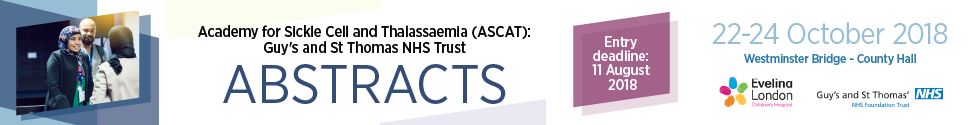Annual Sickle Cell Disease and Thalassaemia Conference (ASCAT) 2018 - Abstract entry process