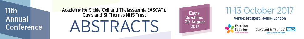 11th Annual Sickle Cell Disease and Thalassaemia Conference (ASCAT) 2017 - Abstract entry process