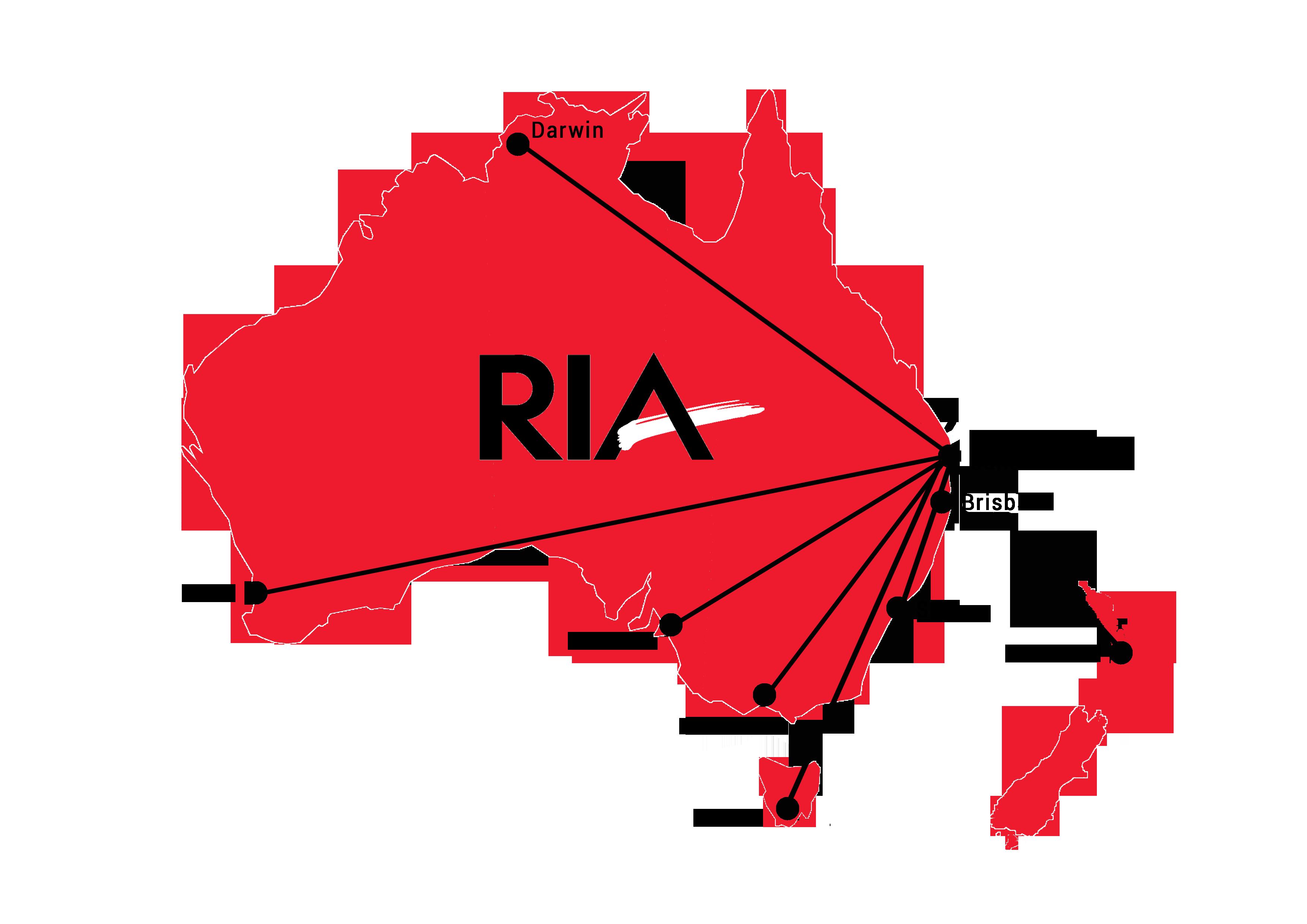 Red Australia Map