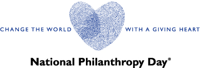 National Philanthropy Day logo horizontal