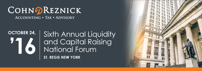 2016: 6th Annual Liquidity and Capital Raising Forum