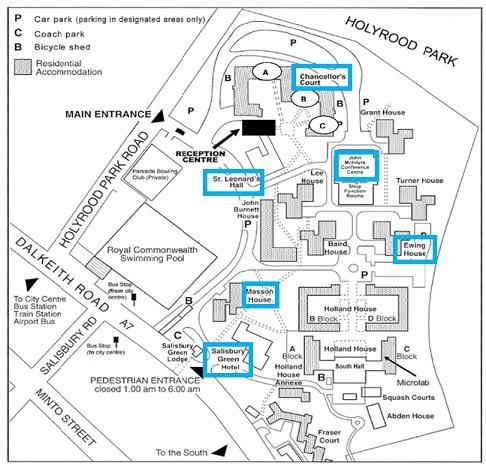 Pollock Halls Map 4