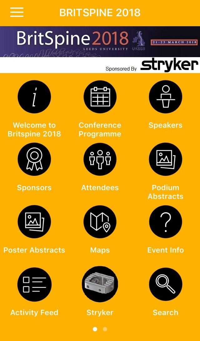 Britspine image - Conference App
