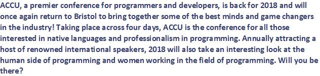 ACCU 2018 Introduction