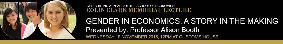 25th Colin Clark Memorial Lecture