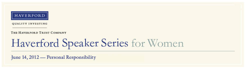 Haverford Speaker Series for Women - May 16/June 14