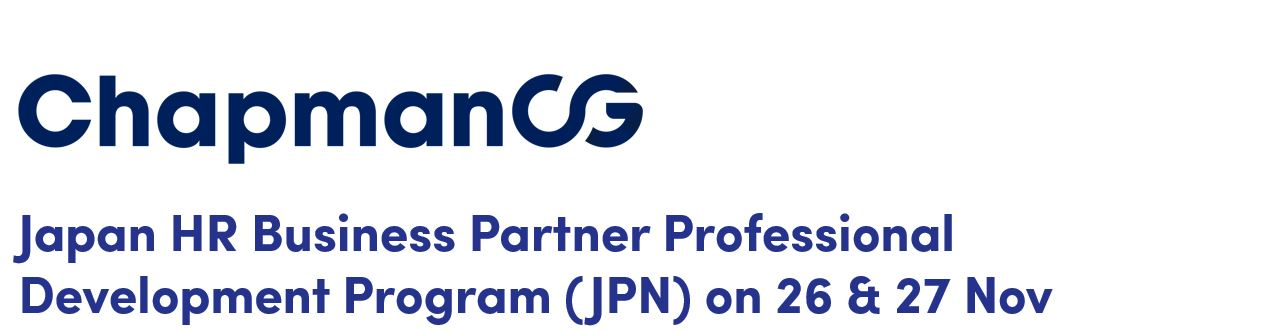 Japan HR Business Partner Professional Development Program (JPN) on 26 & 27 Nov 2019