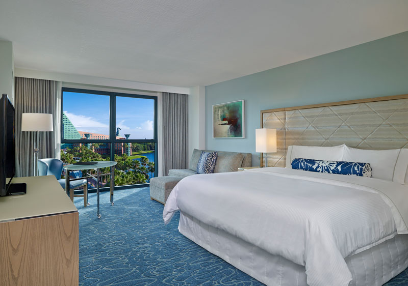 Guest room at the Walt Disney World Swan and Dolphin Resort