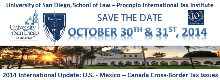 USD School of Law - Procopio International Tax Institute 2014 International Update