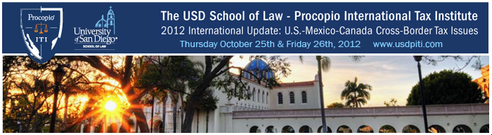 USD School of Law - Procopio International Tax Institute 2012 International Update