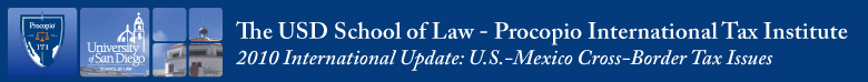 USD School of Law - Procopio International Tax Institute 2010 International Update