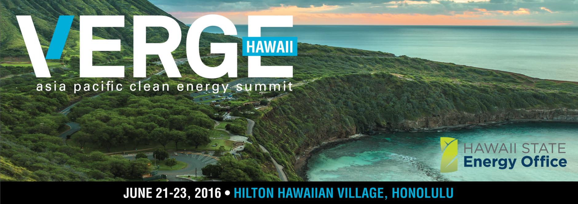 VERGE Hawaii - Asia Pacific Clean Energy Summit