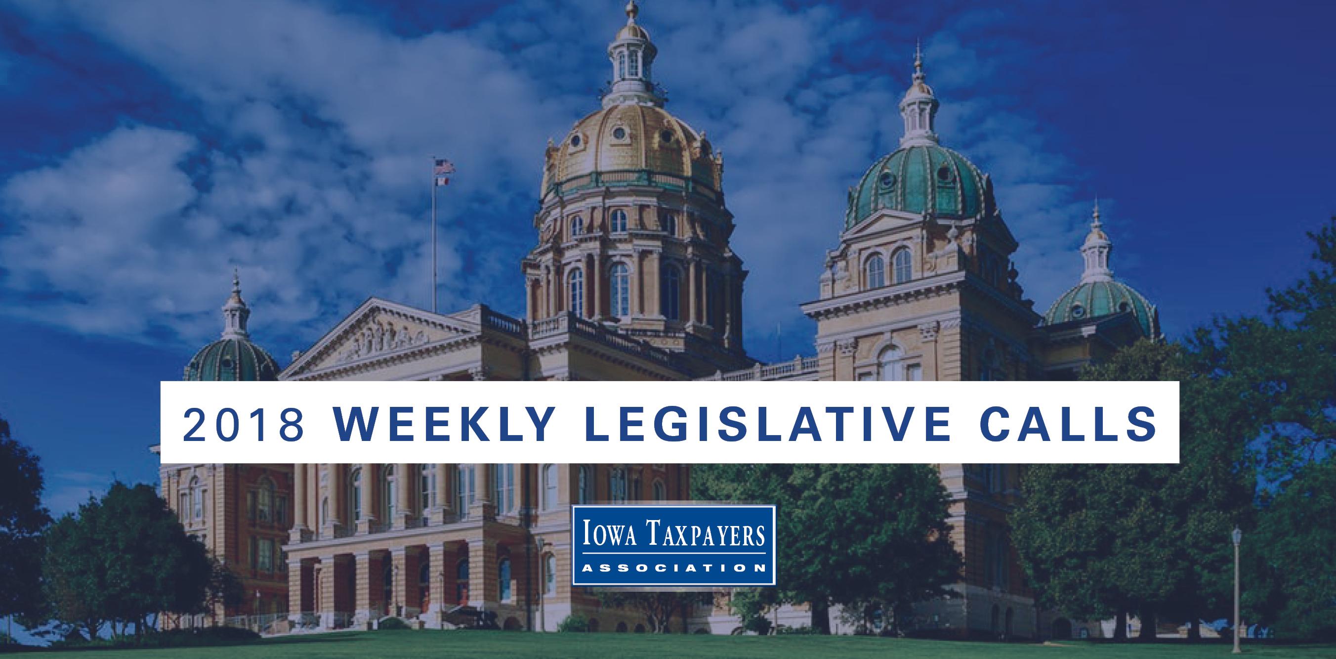 2018 ITA Weekly Legislative Calls