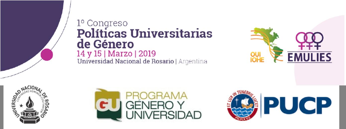 1º Congreso Políticas Universitarias de Género