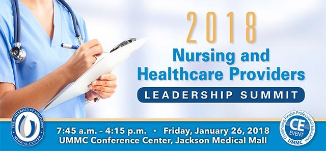 2018 Nursing and HC Leader Summit banner