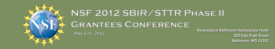 NSF 2012 SBIR/STTR Phase II Grantees Conference
