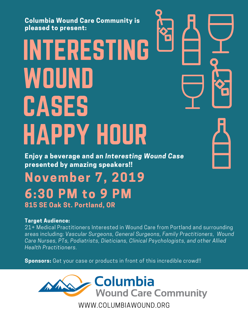 Columbia Wound Happy Hour Case Reports Flyer (1)
