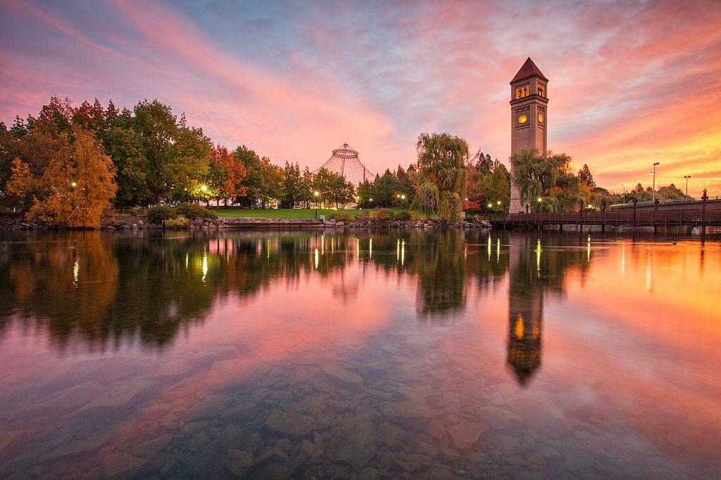 Sunrise in Riverfront Park - main photo resampled