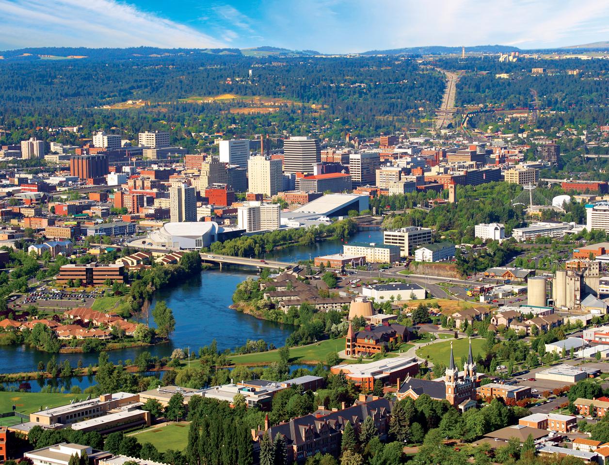 Downtown Spokane & Spokane River