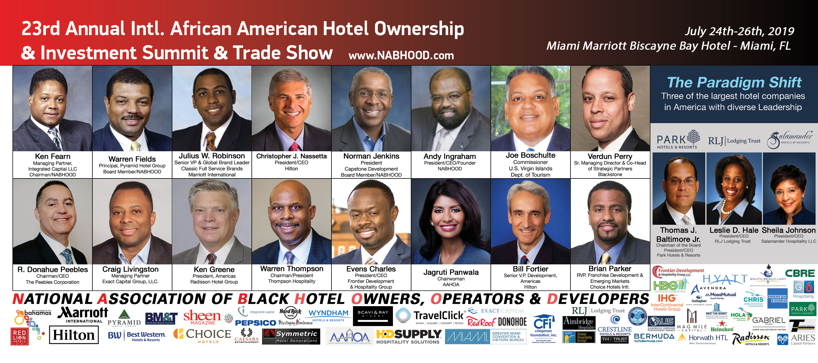 23rd Annual International African American Hotel Ownership & Investment Summit & Trade Show
