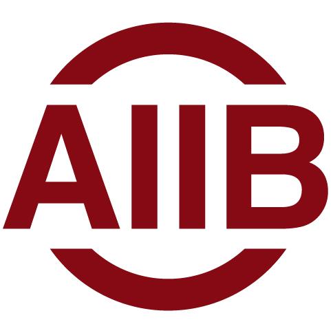 AIIB Logo - Crimson