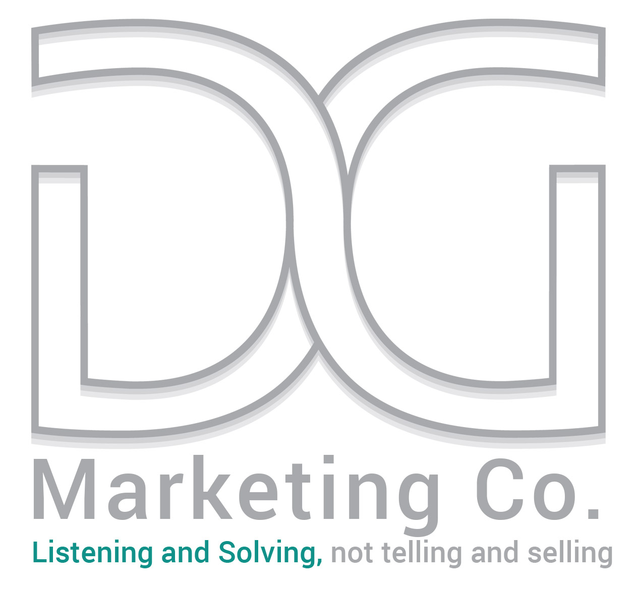 DG Marketing Co logo with tag