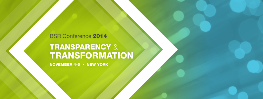 BSR Conference 2014: Transparency & Transformation