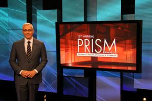 Dr. Drew on PRISM set