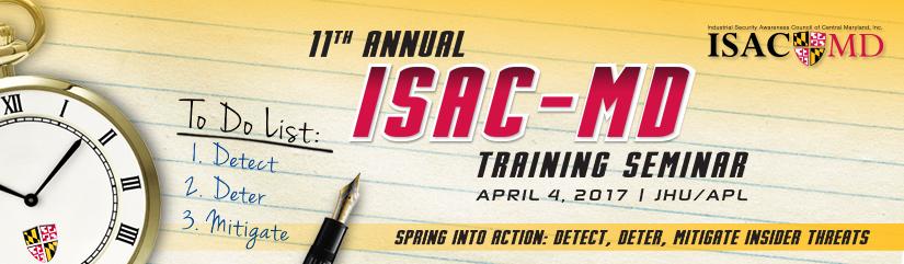 11th Annual ISAC-MD Training Seminar