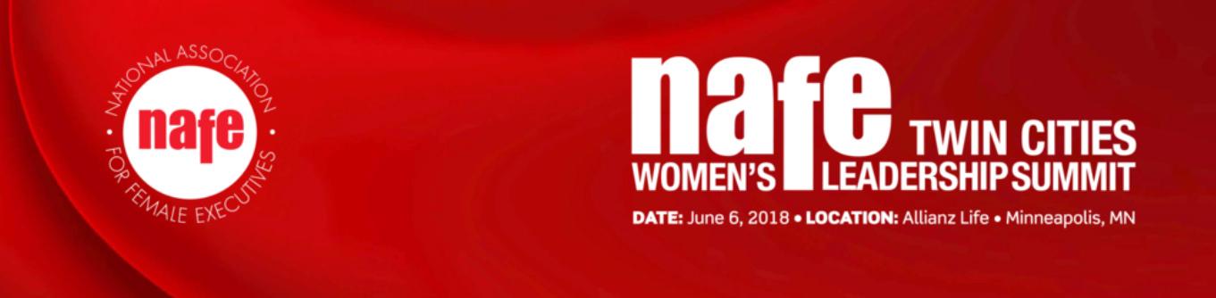 NAFE Twin Cities Leadership Summit 2018