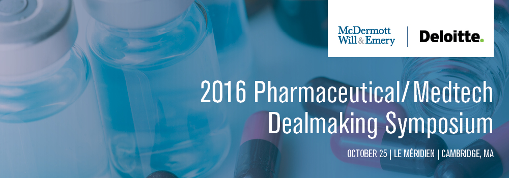 McDermott's 2016 Pharmaceutical/Medtech Dealmaking Symposium