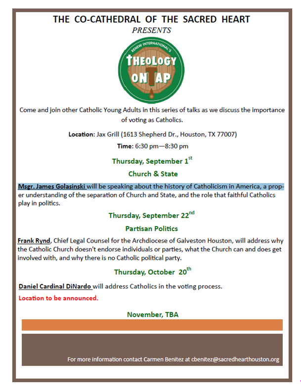 Theology on Tap -Fall 2016
