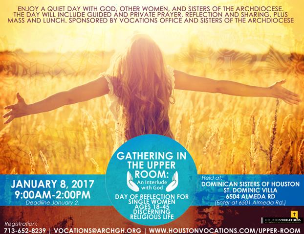 Upper Room Retreat for Women -January 2017 (Vocati