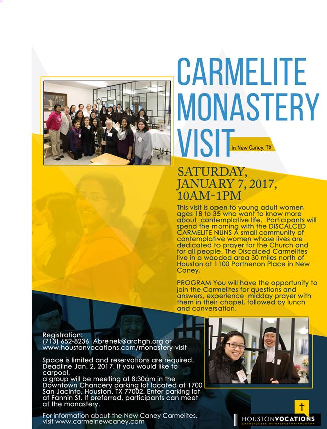 Carmelitas- January 2017 (Vocation Office)