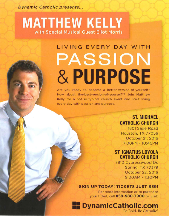 Matthew Kelly- Living everyday with Passion & Purp