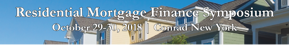 SFIG Residential Mortgage Finance Symposium 2018