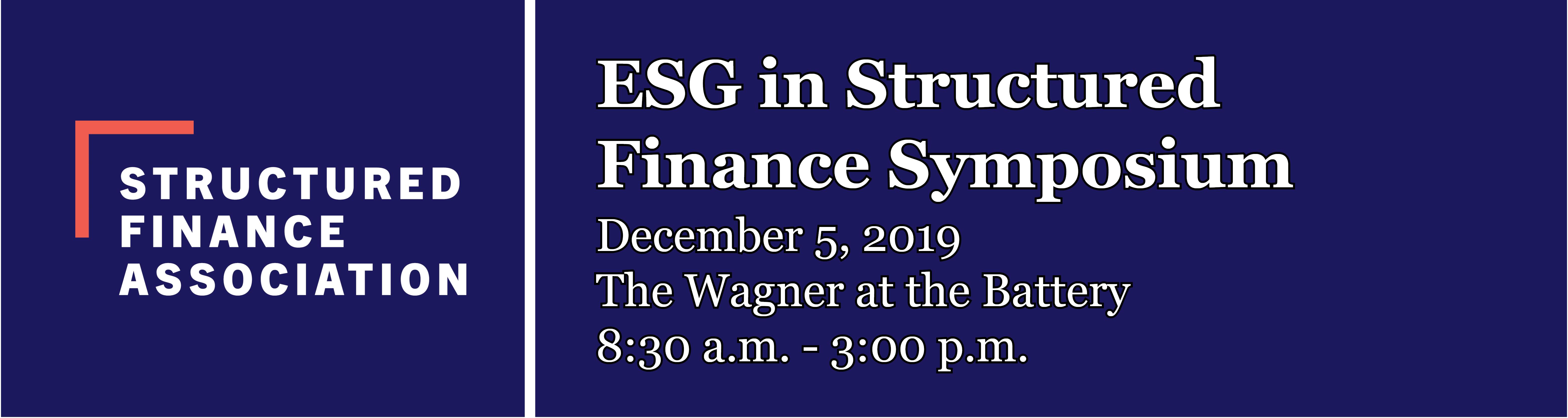 SFA ESG Symposium