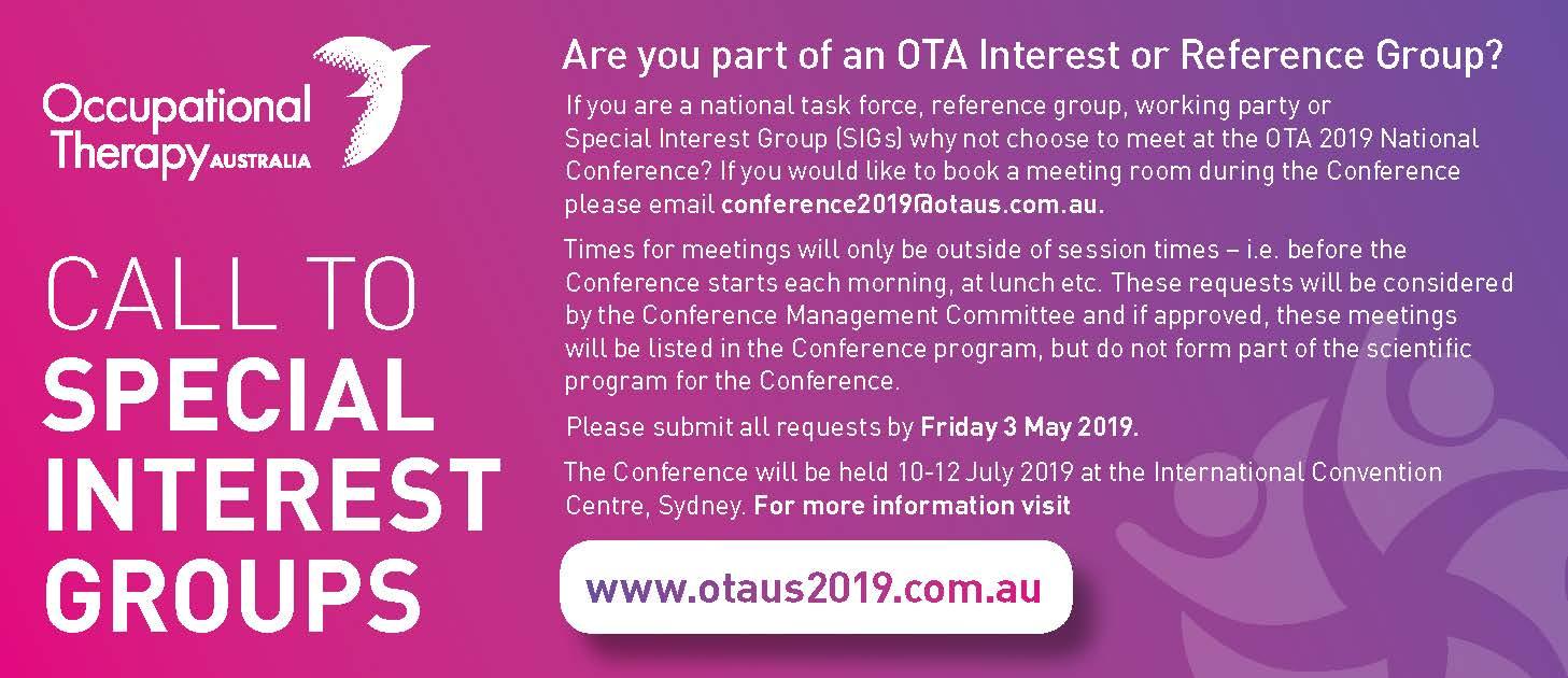 OTA 2019 Call for SIGs