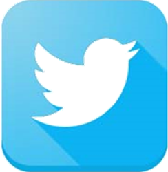 Twitter logo - rounded square, 3d shadow