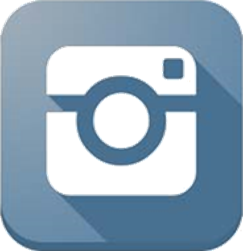 Instagram logo - rounded square, 3d shadow