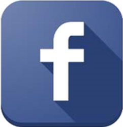 Facebook logo - rounded square, 3d shadow
