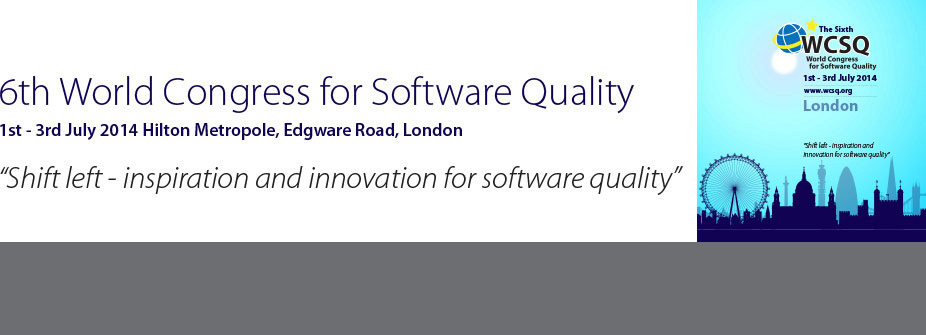 6th World Congress for Software Quality