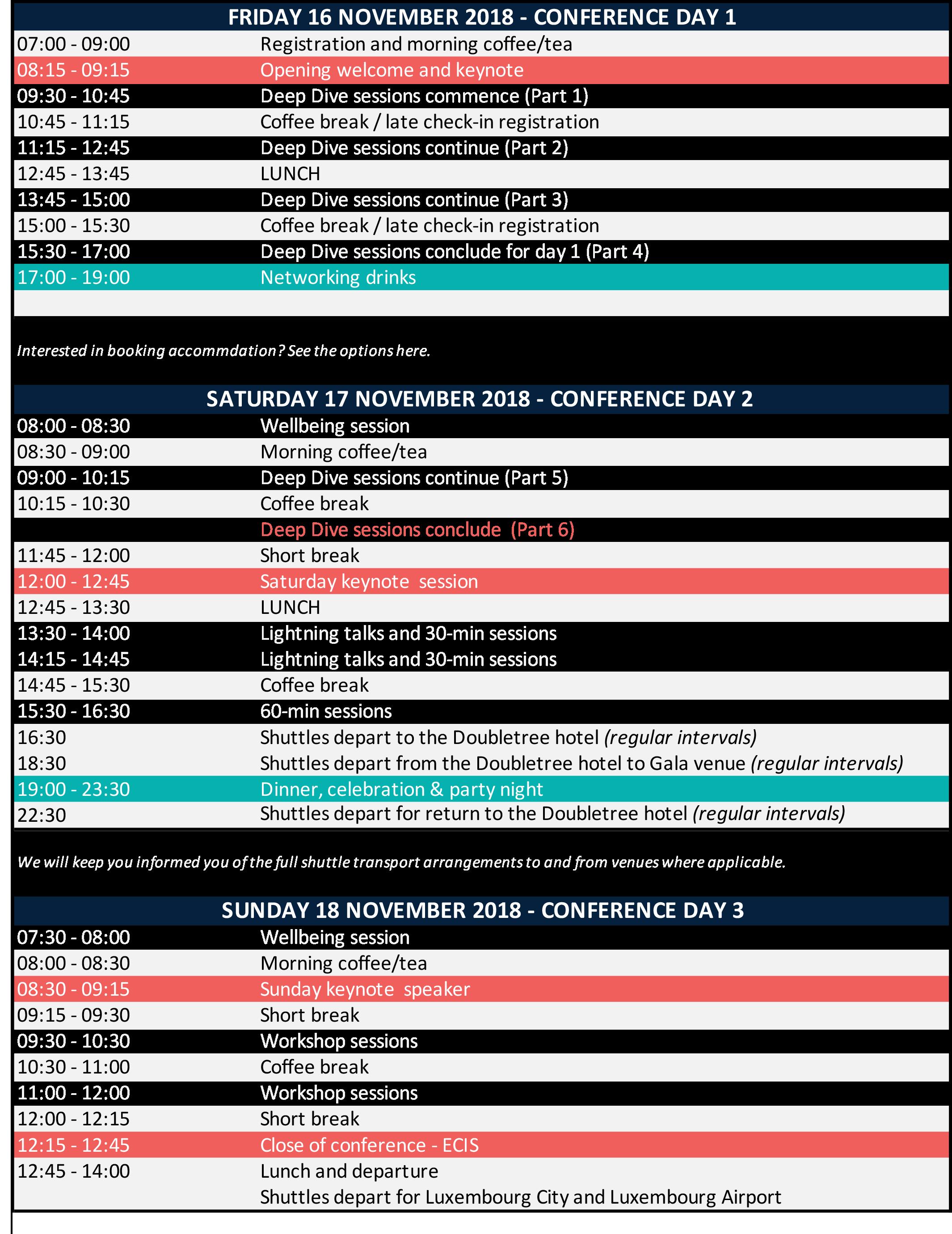 EC2018 - timetable overview - trans