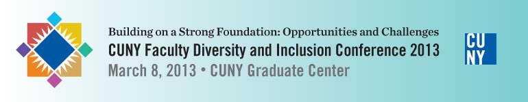 SP 13 CUNY Fac. Diversity Conf. Web Header