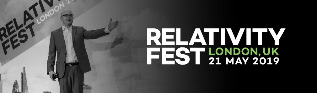 Relativity Fest London Registration