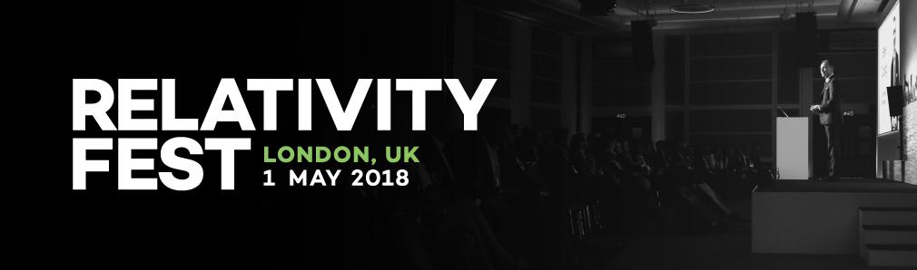 Relativity Fest London 2018