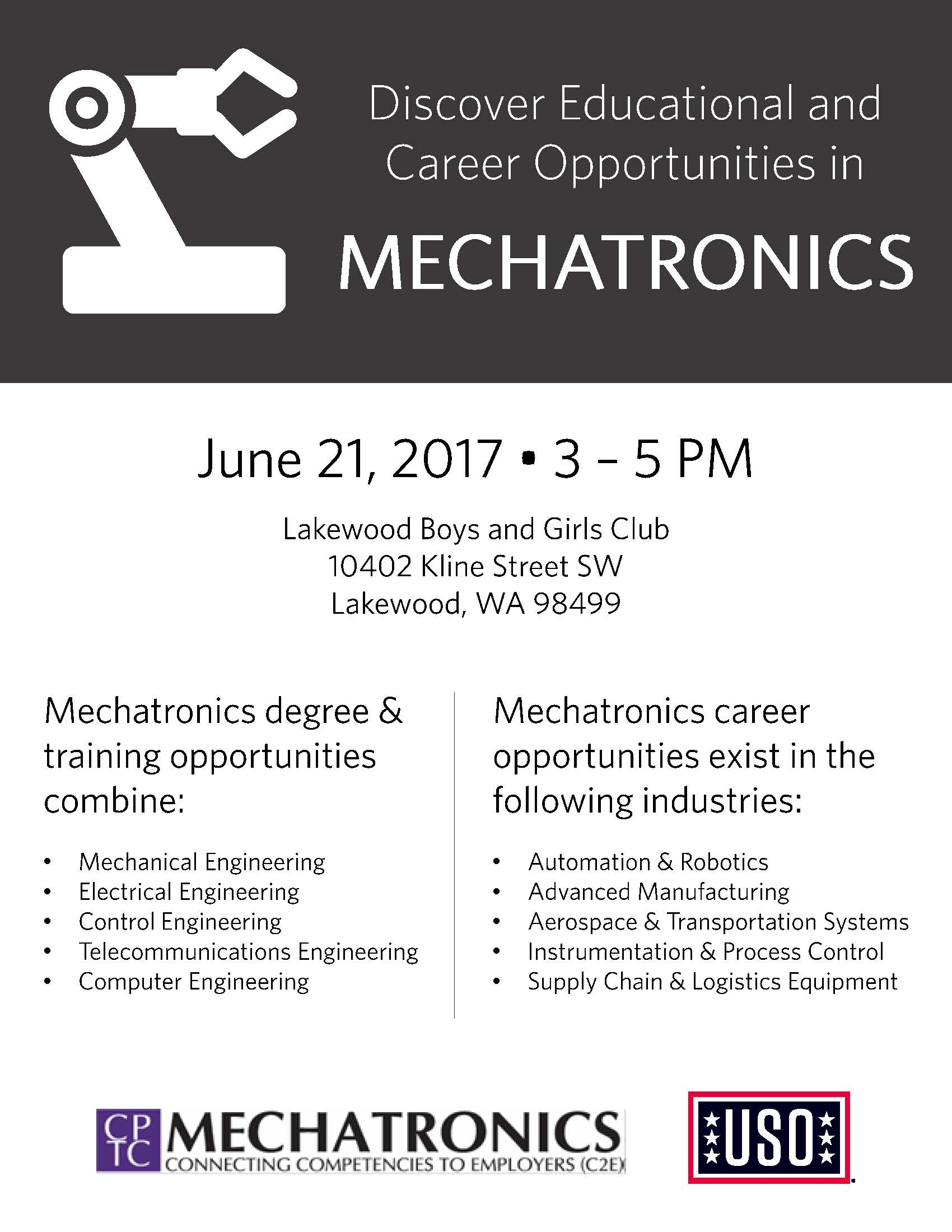 2017-06-21 Mechatronics Info Session