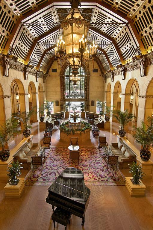 Inside courtyard hotel