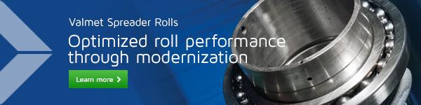 Valmet spreader rolls